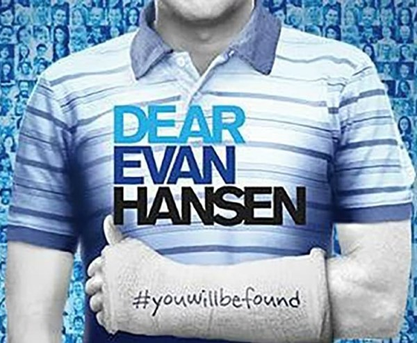 Poster of Dear Evan Hansen production currently showing in theatre next to J Sheekey