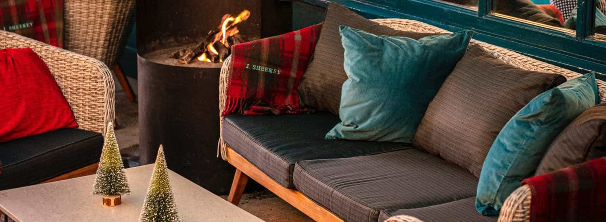 Tartan blankets and throws and a crackling fire ensure a warm and cozy experience in the West End